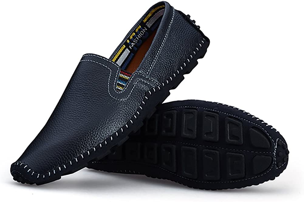 No.66 TOWN Mens Fashion Driving Leather Flats Comfortable Soft Loafers Casual Shoes
