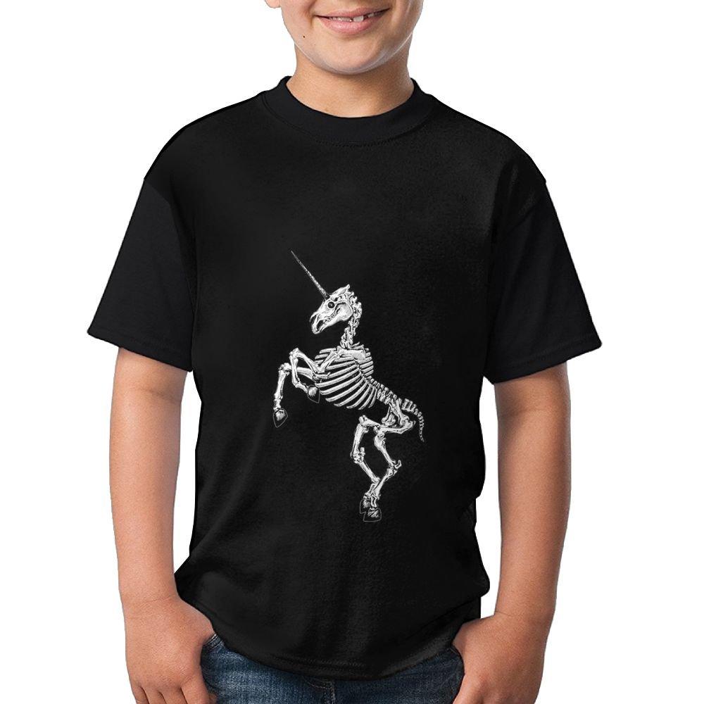 DAB Unicorn Skeleton Skull Boy Girl Summer Shirts 3D Printed Tee Crew Top X-Large