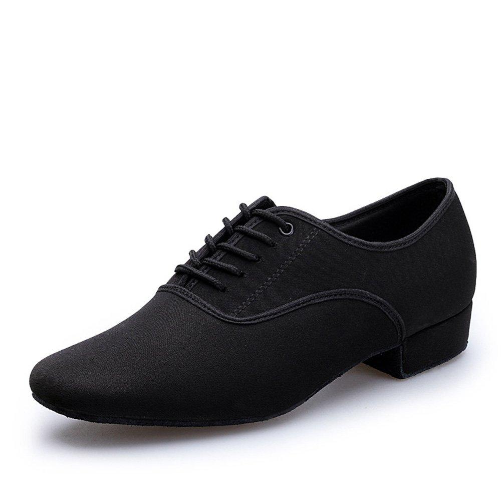 KAI-ROAD Men's Black 1'' Latin Dance Shoes Modern Ballroom Shoes Salsa Tango Dancing Shoes (11 M US) by KAI-ROAD