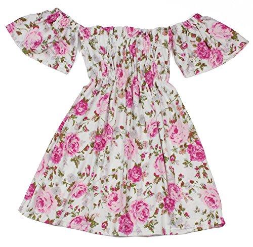 White Floral Smock Smocked Dress - 3