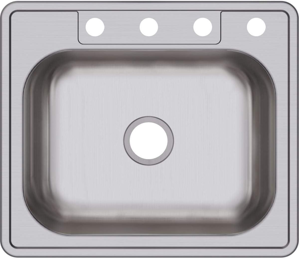 Elkay D125214 Dayton Single Bowl Drop-in Stainless Steel Sink