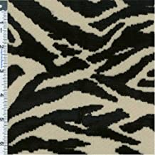Black/White Tiger Print Cut Velvet Upholstery Fabric, Fabric By the Yard
