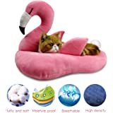 WarmShe Pet Bed Tent Cave for Cats or Small Dogs, Washable Foldable Kitten House with