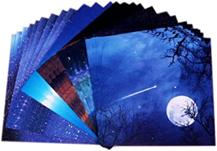 6x6inch Origami Paper Beautiful Sky 70 Sheets Premium Quality for Arts and Crafts