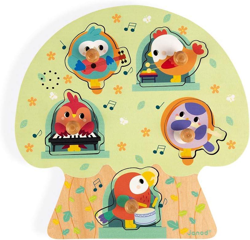 Janod- Rompecabezas Musical pájaros de Fiesta 5 Piezas (Madera) (Juratoys J07092): Amazon.es: Juguetes y juegos