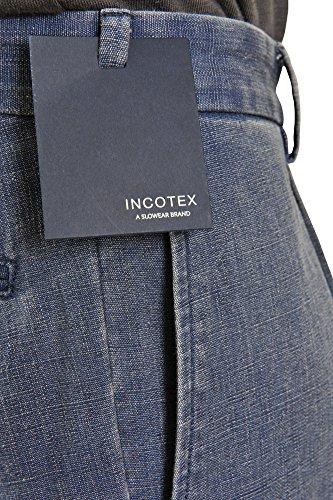 Incotex Pantalon Homme 48 Bleu foncé / Short Taille normale Coupe droite