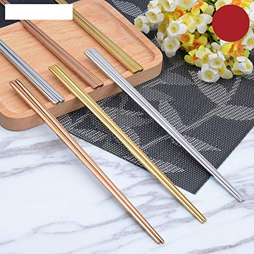 1 Pair Stainless Steel Plating Gold Rose Gold Flat Chop Stic