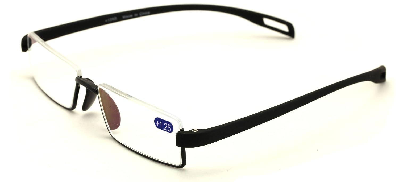 5181bb00a22 Amazon.com  V.W.E. Lightweight Rectangle Memory Flex Frame Clear Lens  glasses RX Optical EyeGlasses  Clothing