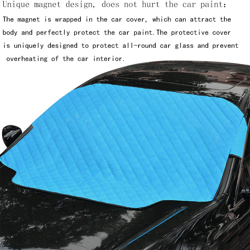 "Blocks UV Rays Sun Visor Protector Car Windshield Sun Shade 72/""x44.5/"" inches Blue Sunshade to Keep Your Vehicle Cool and Damage Free"