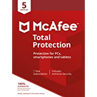 McAfee Total Protection 2019   5 Devices   PC/Mac/Android/Smartphones   Activation code by post