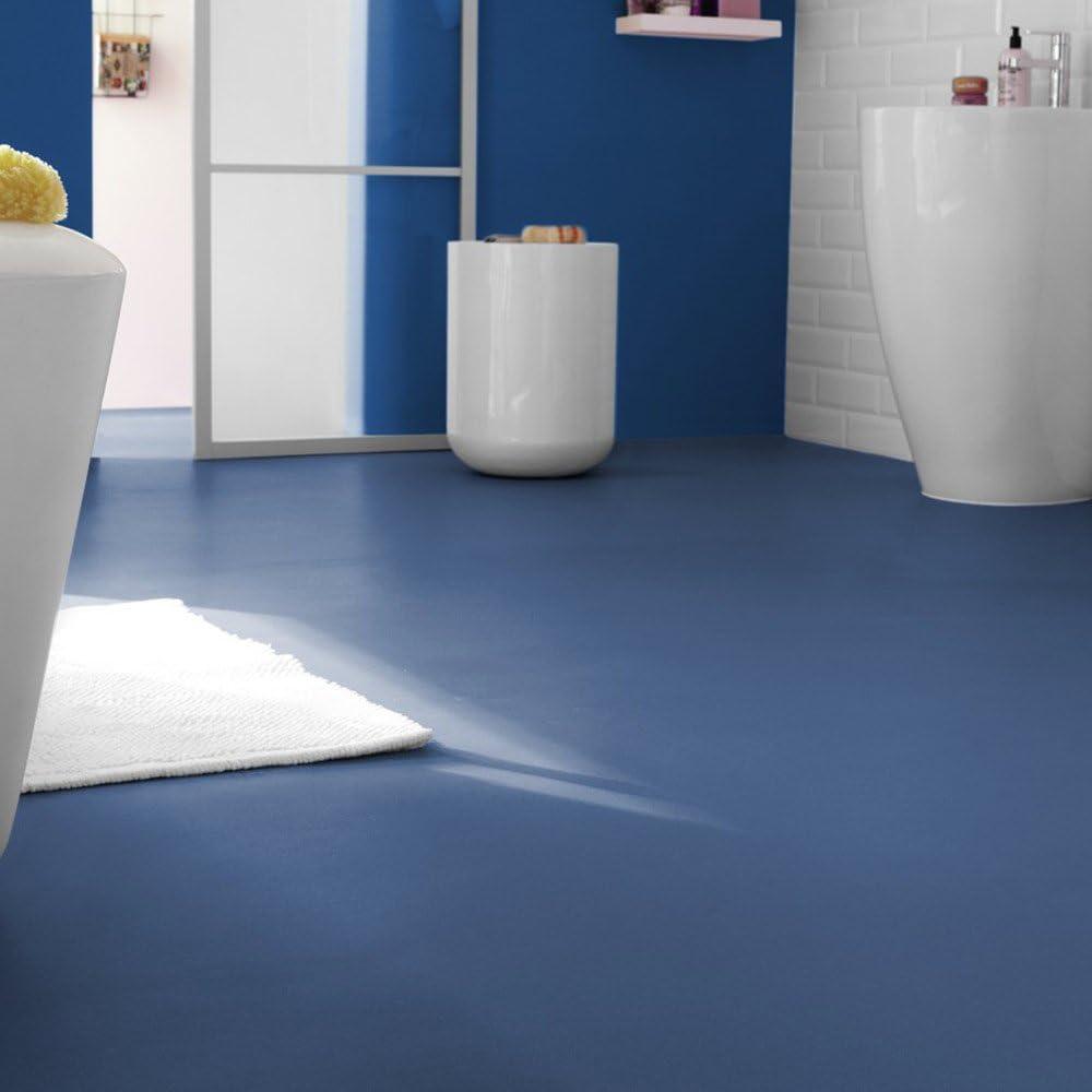 livingfloor/® PVC Bodenbelag Fotohintergrund Einfarbig Uni Denim Blau 2m Breite Gr/ö/ße:4.00x2.00 m L/änge variabel Meterware