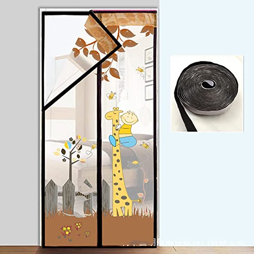 J&DSSSU - Puerta magnética con Cortina de Malla Resistente, Fácil ...