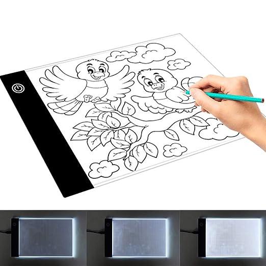 LED A5 Mesa de Luz Dibujo con USB Light Pad Brillo Ajustable ...