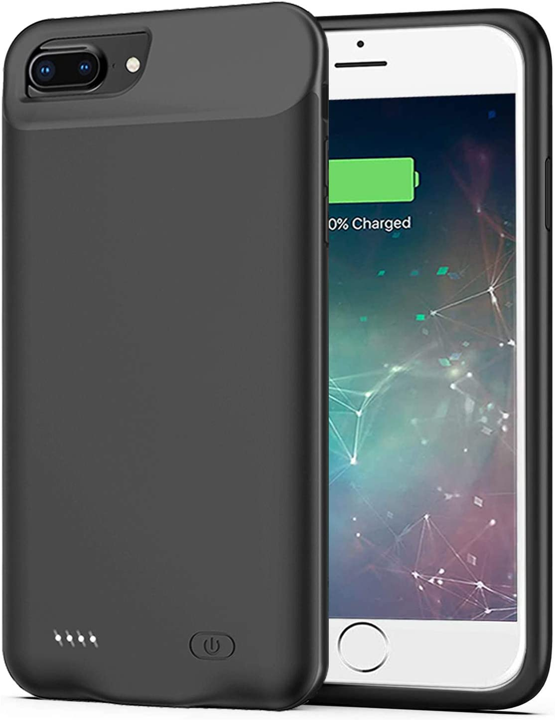 Battery Case for iPhone 8 Plus/7 Plus/6s Plus/6 Plus,Upgraded 10000mAh Charging Case Rechargeable Extended Battery Pack for iPhone 8 Plus/7 Plus/6 Plus/6s Plus (5.5 inch) Charger Case (Black)
