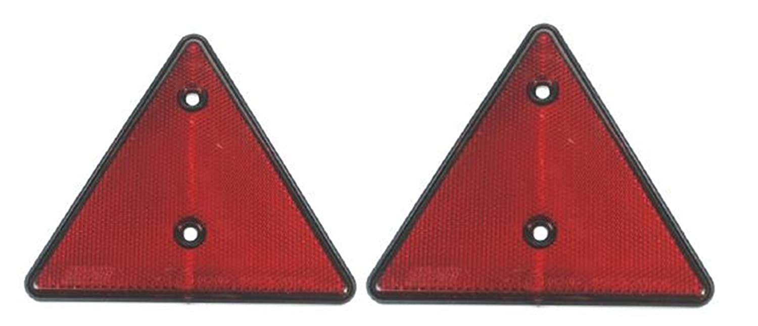 A pair of trailer caravan triangle red reflectors LMX1660 Leisure Mart