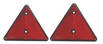 LMX1660 - Triángulos reflectantes rojos para camiones y caravanas, 2 unidades