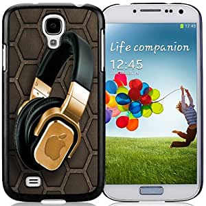 Popular And Durable Designed Case For Samsung Galaxy S4 I9500 i337 M919 i545 r970 l720 With Golden Apple Headphones Phone Case