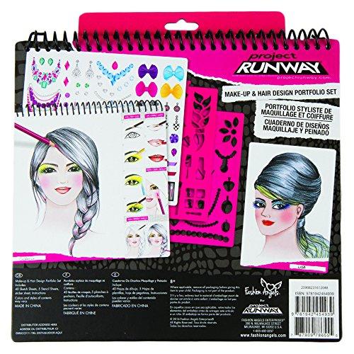 Fashion Angels Project Runway Make Up Design Sketch Portfolio Best Realevaluation Com