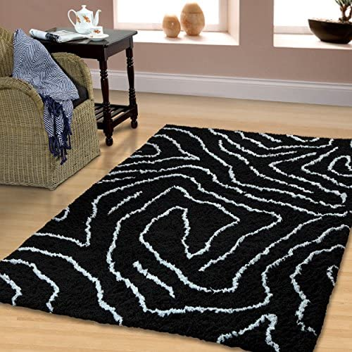 Superior Hand Woven and Soft Shag Rug Carelton Collection