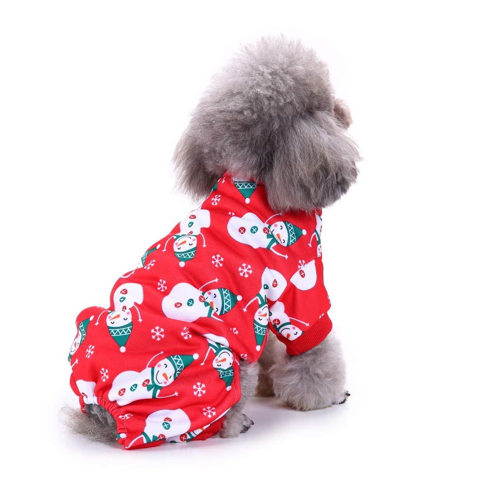 L KARIDUN Pet Dog Clothing Winter Dog Supplies Wacky Creative Dog Vest Sweater Pajamas Cap Coat (Snowman Suit L)
