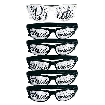 Amazon.com: 6 gafas de sol para novia, dama de honor, para ...