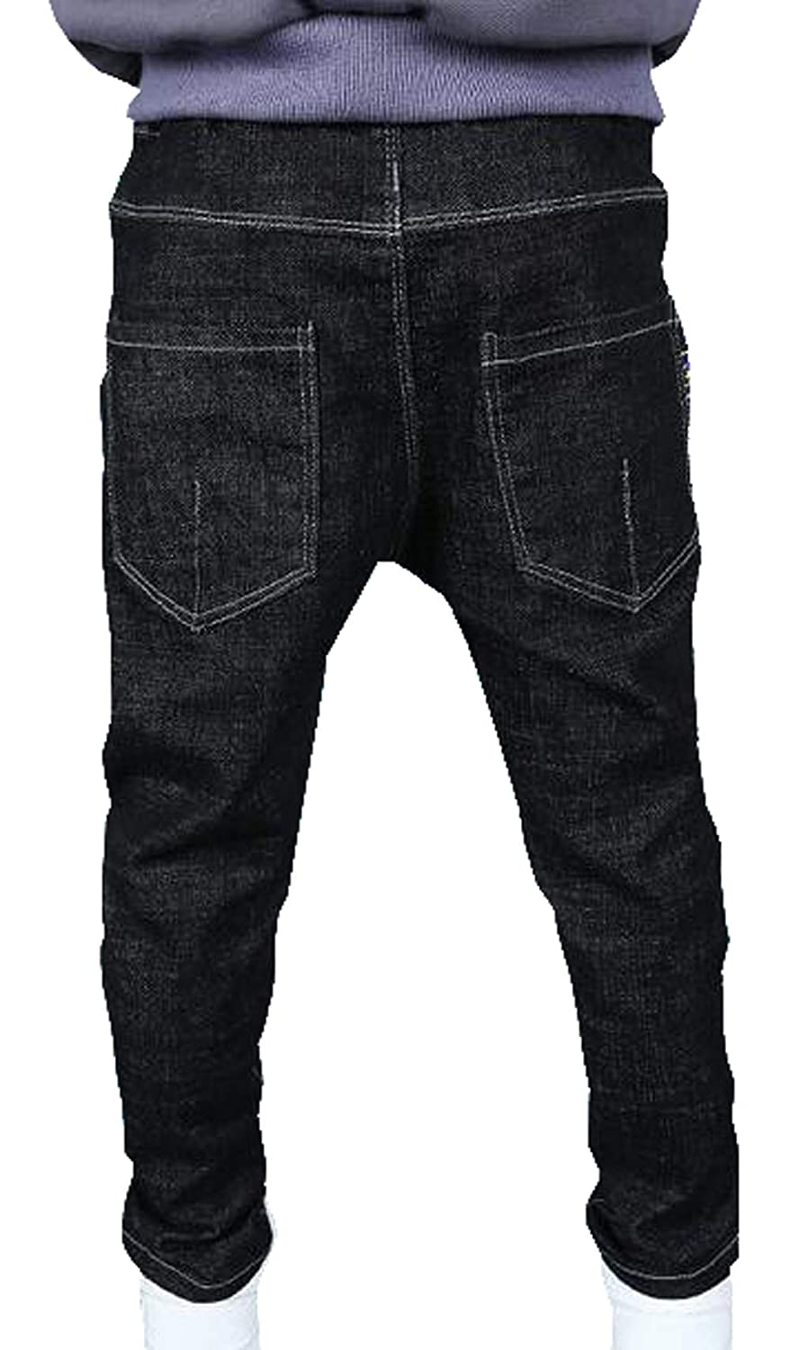 MYtodo Kids Clothing Boys Jeans Trousers Drawstring Denim Pants Baby Pants