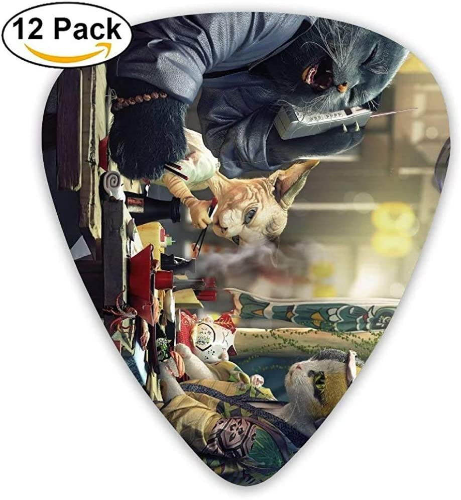 Algunos gatos comiendo comida japonesa Guitar Pick 12pack: Amazon.es: Instrumentos musicales