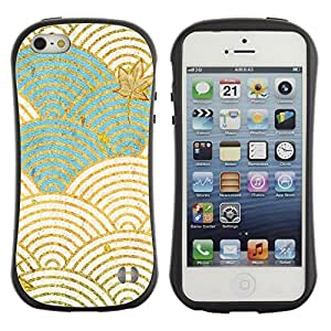 "Hypernova Slim Fit Dual Barniz Protector Caso Case Funda Para Apple iPhone SE / iPhone 5 / iPhone 5S [Ondas del blanco del trullo Autumn Leaves""]"