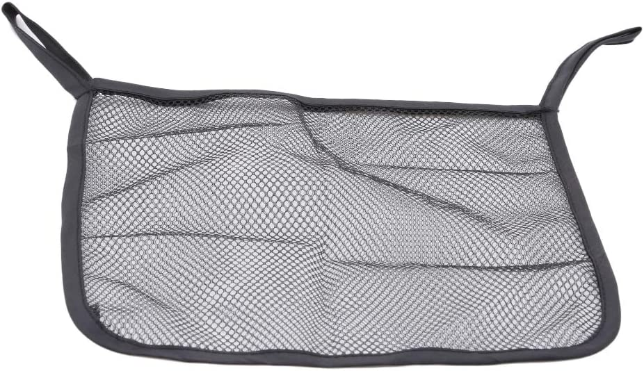 2Pcs Polyester Rear Hanging Storage Bags Stroller Mesh Bag Black