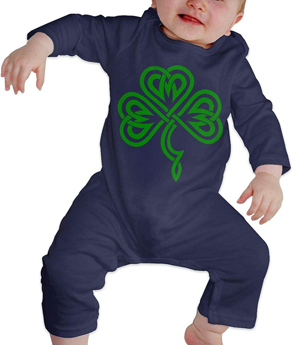 Distressed Irish St Paddys Day Shamrock Child Fashion Jumpsuit Bodysuit Jumpsuit Outfits Jumpsuit Casual Clothing