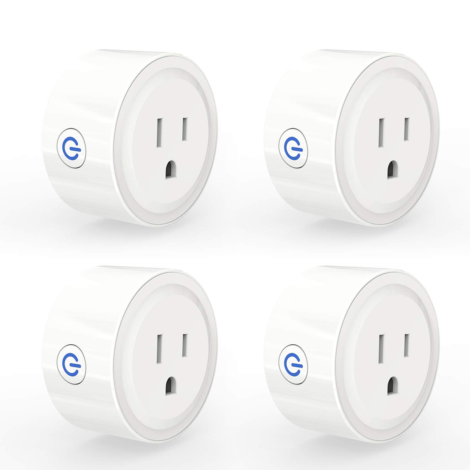3Stone Smart Plug Mini, No Hub Required, Wi-Fi, Compatible with Amazon Alexa, Control your Devices from Anywhere (4 Pack)