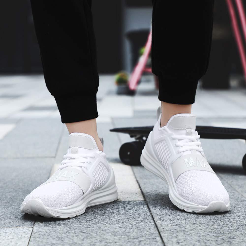 LuckyGirls Calzado Deportivo Malla Patchwork Zapatillas de Correr Running Jogger Bambas de Hombre Zapatos Casual