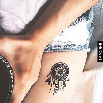 Tatuaje Temporal de Atrapasueños (2 Piezas) - www.ohmytat.com ...