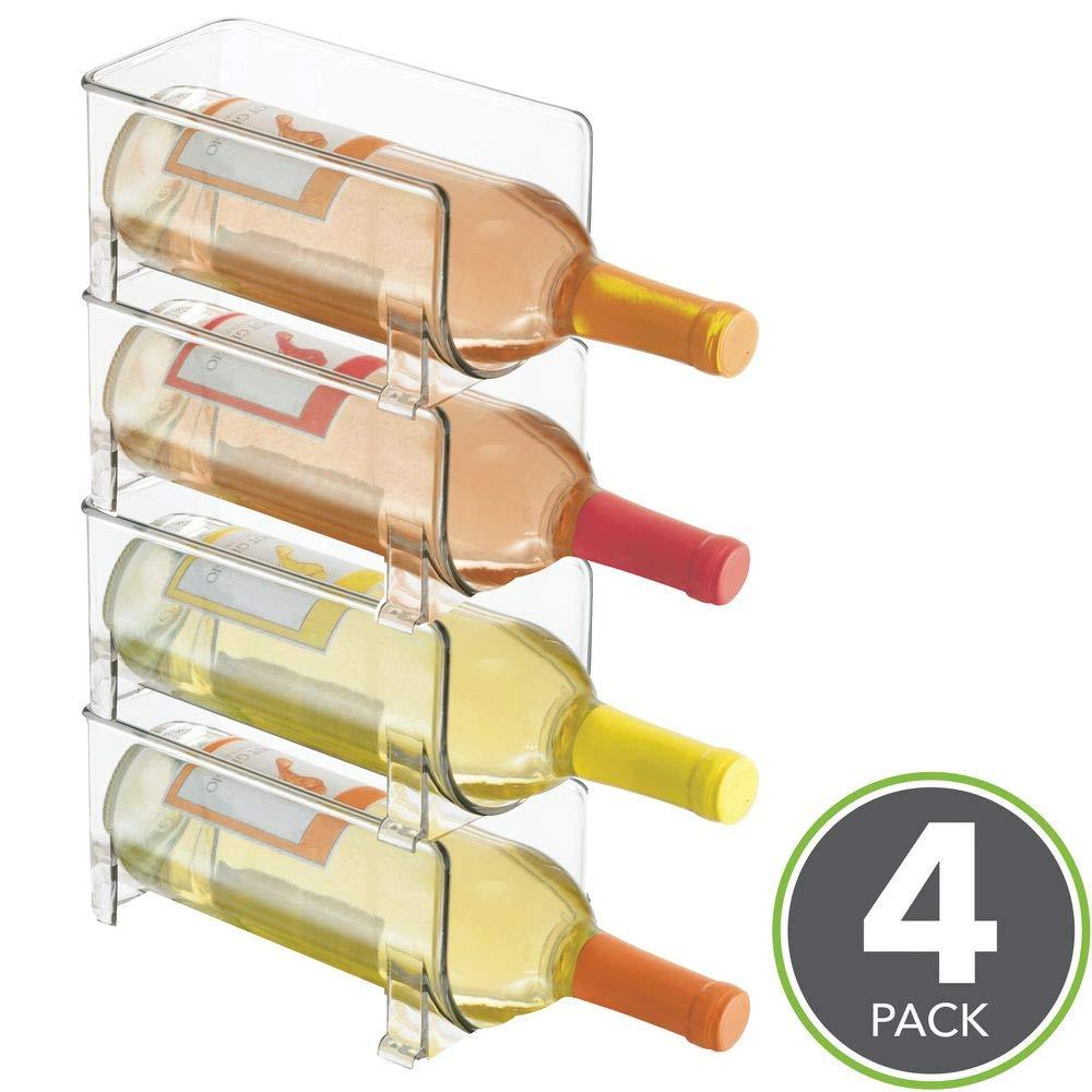Clear Acrylic Wall Mounted 8 Bottle Wine Holder Rack Modern Design UK