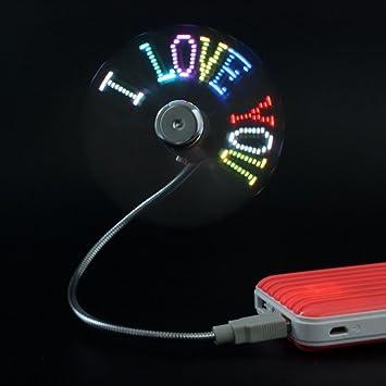 Nueva llegada Cute USB LED confesión Artifact regalo ventilador ...
