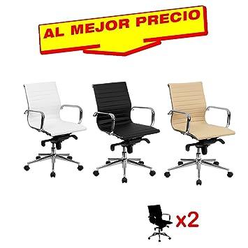 Set 2 Sessel Büro Kippbarer Rückenlehne Mittel Modell Stewart ...