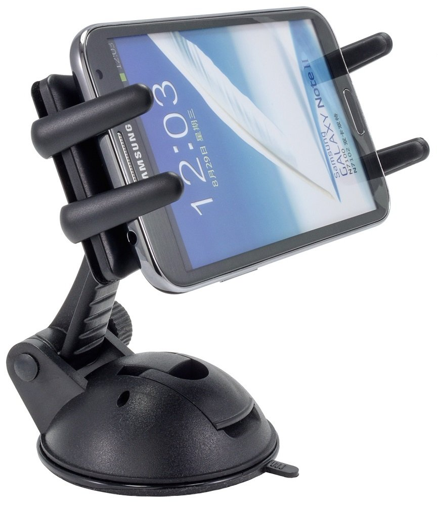 Arkon Phone and Midsize Tablet Windshield Dash Car Mount for Galaxy Note Edge 5 4 S7 S6 Retail Black SM678