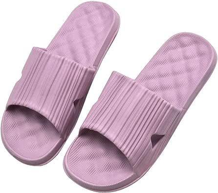 Xunlong Shower Bath Slippers Women Men Non-Slip Home Bathroom Sandals Soft Slippers with Massaging Effect