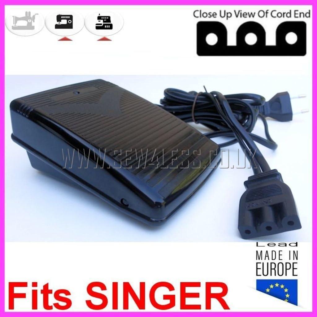 Pedal para máquina de coser y coser Singer 3 Tros en línea con esquinas cuadradas – Singer 2259, 2262, 2263, 2273, 2277, 2639, 2662, 2712, 2718, 2722, 2724, 2730, 2732, 2932, 3116, 3207, 3214, 3221, 3223, 3232: Amazon.es: Hogar
