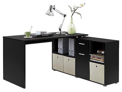 möbelando - Mesa de Escritorio en Esquina Mesa Oficina Mesa de ...