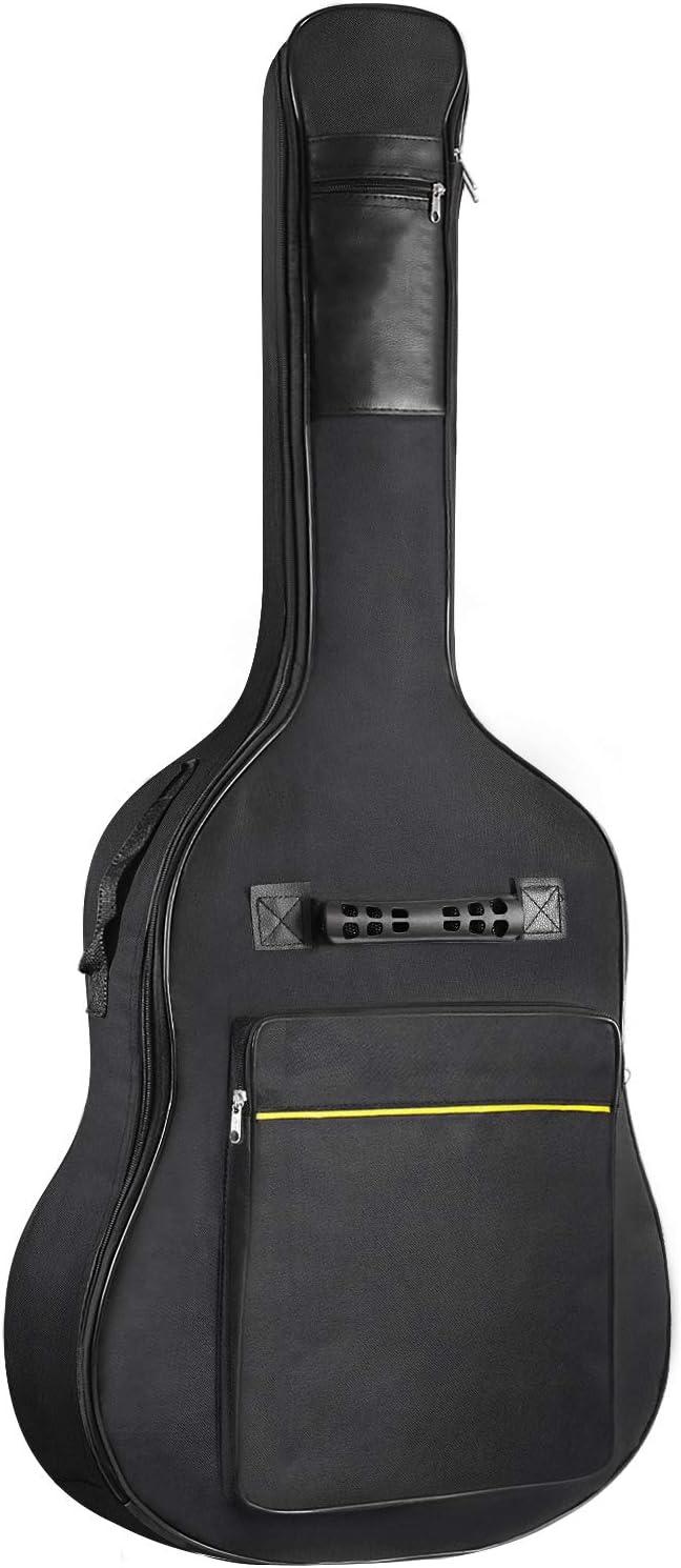 Martisan Funda para Guitarra impermeable para 41Inchs Guitarra Acústica guitarra clásica Bolsa Acolchada Negro