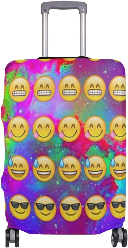3D Funny Emoji Design Print Luggage Protector Travel Luggage Cover Trolley Case Protective Cover Fits 18-32 Inch