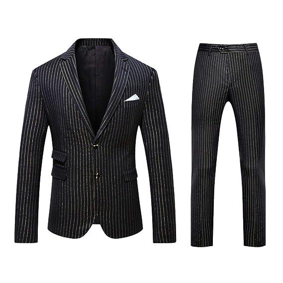 Zhansanfm Sakko - Traje de hombre con un botón, chaqueta de traje ...