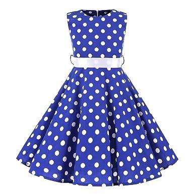 2ccd00e20d4f SXSHUN Mädchen Retro Vintage Rockabilly Kleid Partykleider Cocktailkleider  Im 50er-Jahre-Stil
