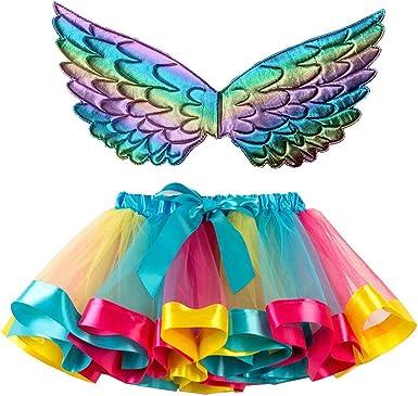 Falda Tutu Niña Vestido de Tul Niña Colores Chica ala del Ángel ...