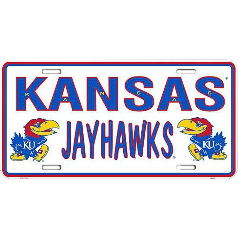 Signs 4 Fun Slckj Kansas U Jayhawk Dual License Plate