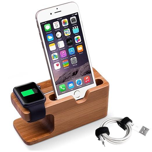 6 opinioni per Apple Watch Stand, Elekin iWatch di legno di bambù supporto di ricarica Docking