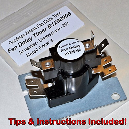 NEW Fan Blower Time Delay B1290906 24V Goodman Air Handler Relay + Instructions ()