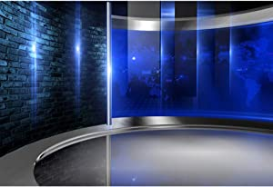 CSFOTO 10x8ft Studio Backdrop News Broadcasting Display Screens Concert Interview Weather Forecast Program Studio Background for Photography Video Conferencing Background Live Video Decor Supplies