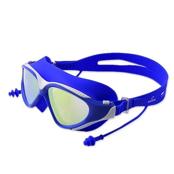 Gafas de natación para Mujer Hombres - Adulto Marco Grande Espejo de  natación Impermeable Anti Niebla Caja Grande Alta Definición Protección UV  Profesional ... 2fd7f4582fa8